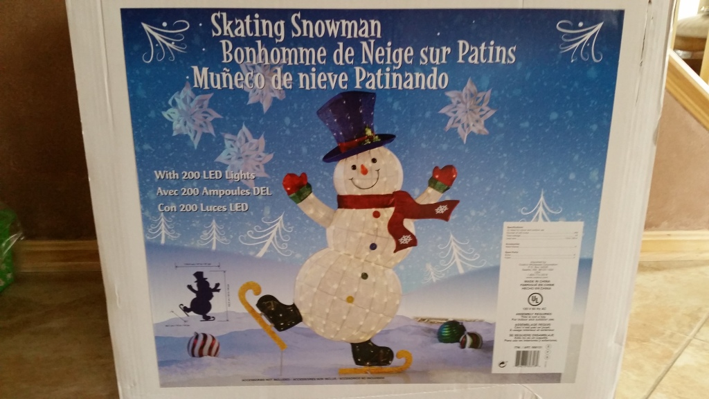RAFFLE #57 ICE SKATING SNOWMAN Thank you to Costco for making this happen! • 72 inch Indoor/Outdoor Ice Skating Snowman Value: $100 Raffle open to local participants only due to size.