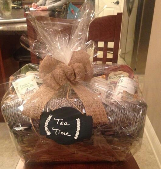 RAFFLE #74 Tea Time Thank you to Stacey & Maddie Miller for this donation! • Basket • Blanket • Tea Candy (2) • Tea • Two Mugs • Journal • Candle • Chocolates Value $85 Open to local participants only.