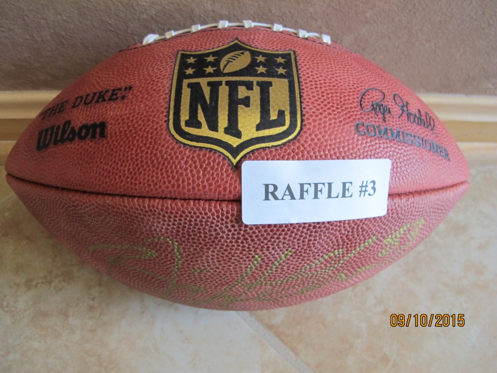 RAFFLE #3 Autographed Cleveland Browns Football Signed by: Brian Hartline #83 Value: PRICELESS *Raffle open to everyone