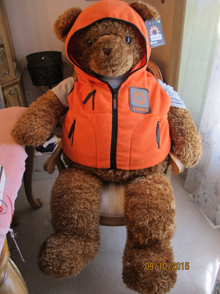 RAFFLE #18 Snuggle with Me Life Size Teddy Bear Thank you to Cyndi Thomin for donating this item! Priceless *Raffle open to local participants only due to prize size.