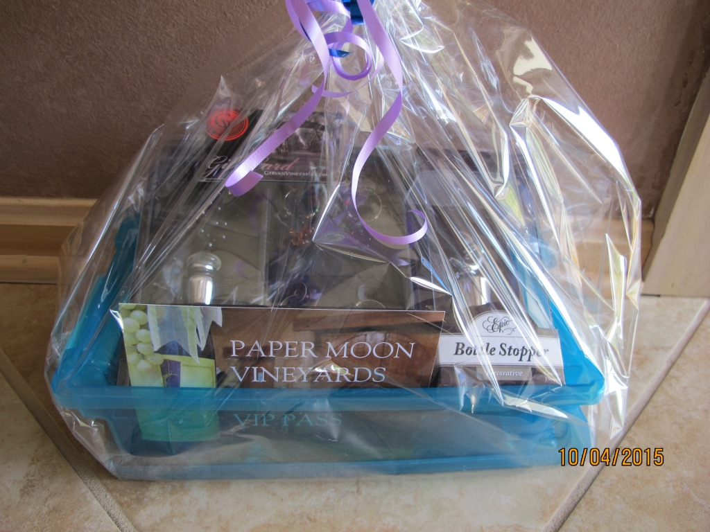 RAFFLE #51 Enjoy Some Wine Thank you to Paper Moon Winery, Gervasi Winery for these items. • $75 Gift Card to Gervasi Vineyards • VIP Pass at Paper Moon Vineyards: Behind the Scenes Tour and Wine Tasting for Four • Bottle Stopper • 5 piece Wine Essentials Set (Wine Stopper and 4 Glass Charms) Value: $140 Raffle open to local participants due to prize location.